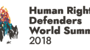Logo of the Human Rights Defenders World Summit 2018