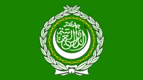 The official flag of the League of Arab States