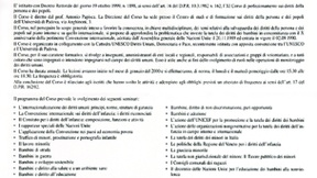 """Locandina del XI Corso di Perfezionamento sui diritti della persona e dei popoli """"I diritti dei bambini nel X anniversario della Convenzione internazionale dei diritti dell'infanzia"""", Padova, 1999"""