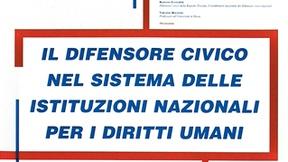 """Locandina del convegno: """"Il Difensore civico nel sistema delle istituzioni nazionali per i diritti umani"""", Università di Padova, 19-20 giugno 2002."""