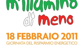 """Logo of the Campaign """"M'illumino di Meno"""" promoted by Caterpillar radio show, 2011"""