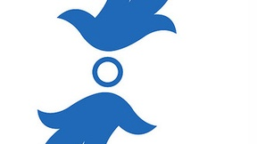 "The outline of two doves characterize the logo commemorating the tenth anniversary of the ""Legge Regionale"" 55/1999, which calls for regional assistance in the promotion of human rights, a culture of peace, cooperation in its development, and solidarity."