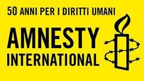 Logo di Amnesty International in occasione del 50° anniversario