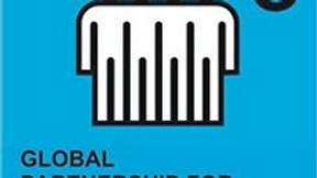 Logo ottavo degli Obiettivi ONU di Sviluppo del Millennio, Promuovere un partenariato globale per lo sviluppo; raffigura in modo stilizzato quattro persone abbracciate su sfondo azzurro.