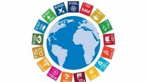 Il mondo circondato dagli obiettivi di sviluppo sostenibile