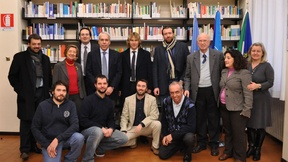 Pavel Nedved with the staff of the Human Rights Centre of the University of Padua, 2011