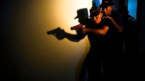Agenti di polizia partecipano ad un'esercitazione, Timor Est, 2009