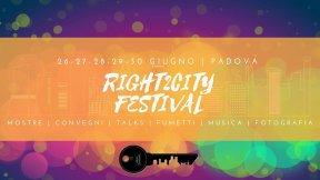 """Logo del Festival """"Right2City"""" organizzato dallo Sportello Avvocato di Strada - Padova"""