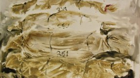 "Soulaf Abas, 249, 250, 251, 252, oil on canvas. 12""x 16"", 2013"