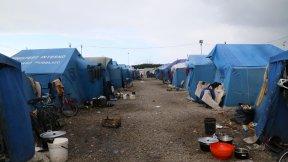 La tendopoli di San Ferdinando, in Calabria, creata nelle adiacenze della smantellata baraccopoli che ospitava centinaia di lavoratori migranti