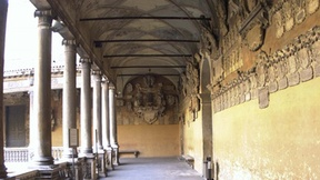 University of Padua, Palazzo del Bo, a view of the upper corridor of the Ancient Courtyard