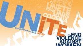 Logo della campagna delle Nazioni Unite: Unite per porre fine alla violenza contro le donne