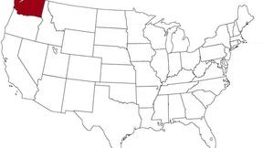 Washington  evidenziato nella mappa degli Stati Uniti