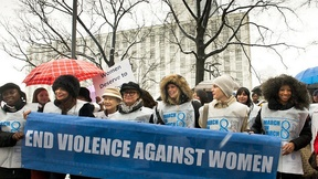 """UN Women for Peace"" March Marking International Women's Day."