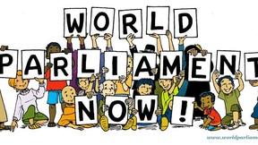 Immagine della campagna per l'istituzione di un Parlamento Mondiale