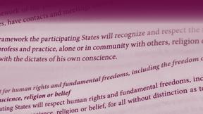Copertina delle Linee Guida sul riconoscimento della personalità giuridica delle comunità religiose o di credo