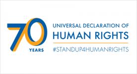 Logo per il 70° anniversario della Dichiarazione universale dei diritti umani