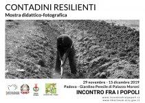 """Locandina mostra """"Contadini resilienti"""" organizzata da """"Incontro fra i popoli"""""""