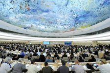 Wide view of the 23rd session of the Human Rights Council.