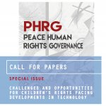 Copertina PHRG con scritta call for papers