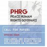 Copertina PHRG con scritta call for papers