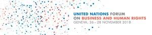 Logo del Forum delle Nazioni Unite su imprese e diritti umani, 26-28 novembre 2018