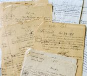 Manoscritti di versioni provvisorie della Dichiarazione universale dei diritti umani, durante i lavori di redazione del testo.