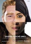Viso diviso in quattro con diverse etnie rappresentate.